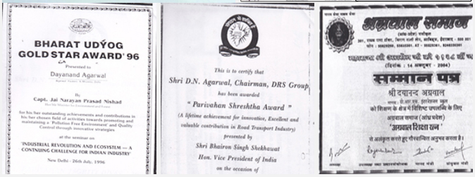Awards and Recognition - Agarwal Packers and Movers DRS Group