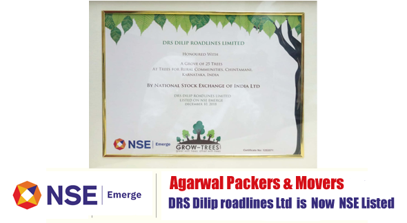Agarwal Packers and Movers NSE Listed Company